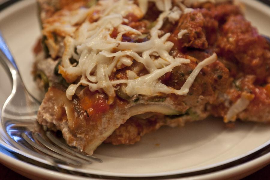 Lasagna, wheat-free, dairy-free, egg-free