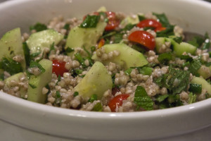 Untraditional Buckwheat Tabbouleh Salad