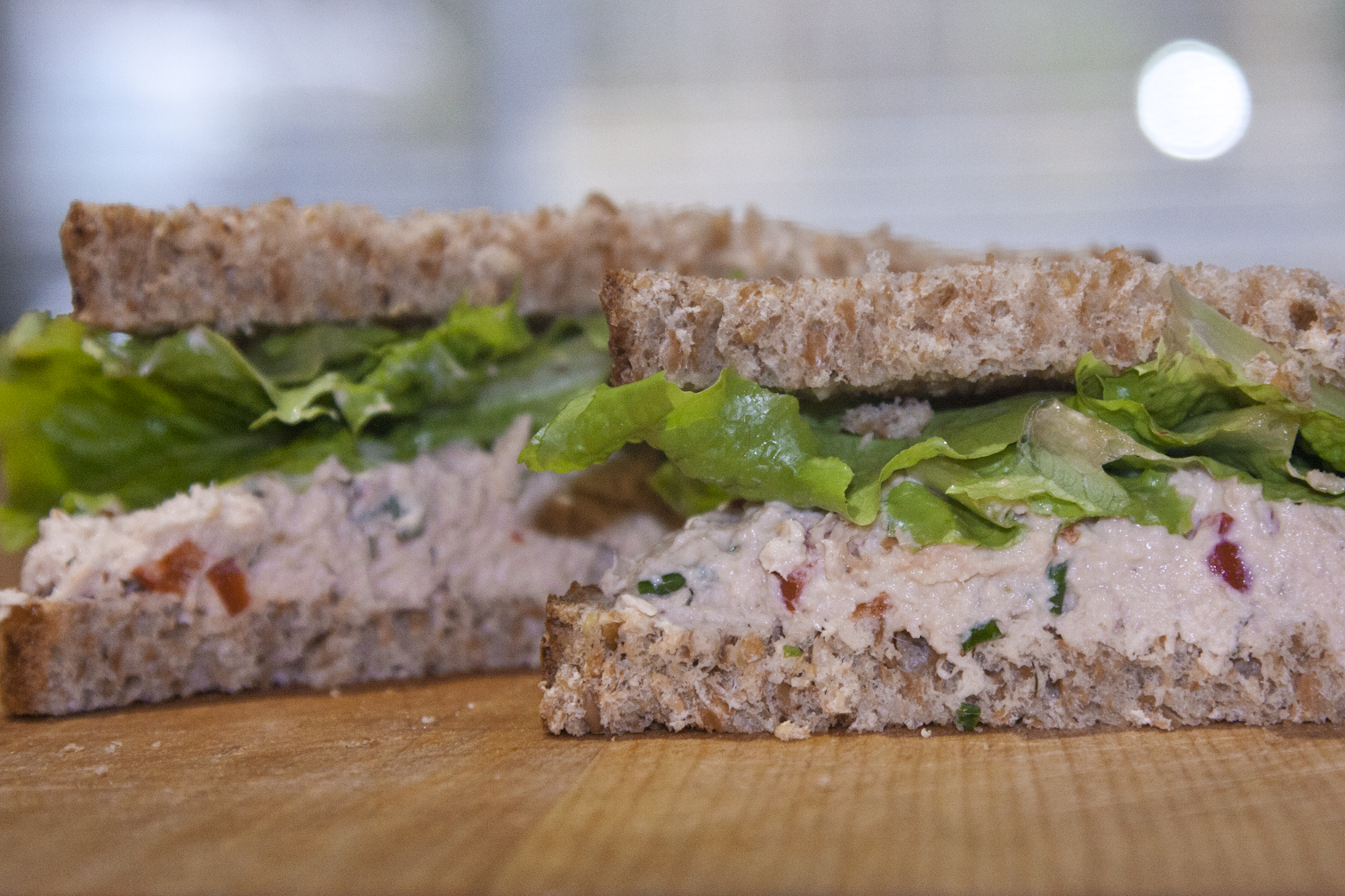 Tuna Salad Sandwich on Alvarado Street Sprouted Barley Bread