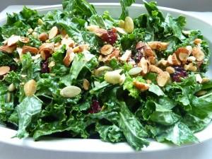 lemon tahini spinach salad - sleep nutrition