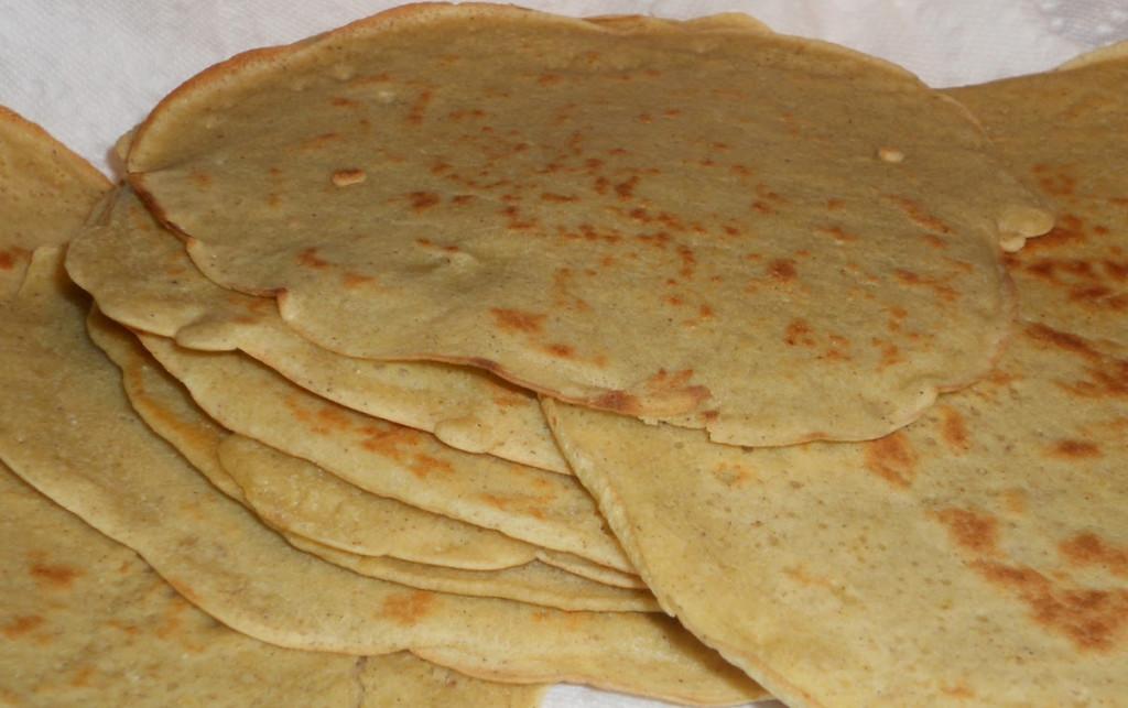 grain free gluten free tortilla with garbanzo bean flour