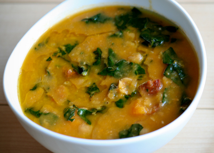 healthy soup, fat free, garbanzo, chorizo, spinach, whole foods healing, natural health, anchorage nutritionist, holistic