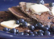 buckwheat pancakes with blueberries and real maple syrup health