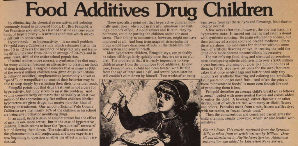 Food Additives 1974 article