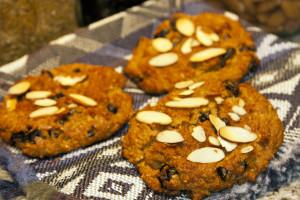 Vegan (yes eggless!!) Cranberry Almond Scones