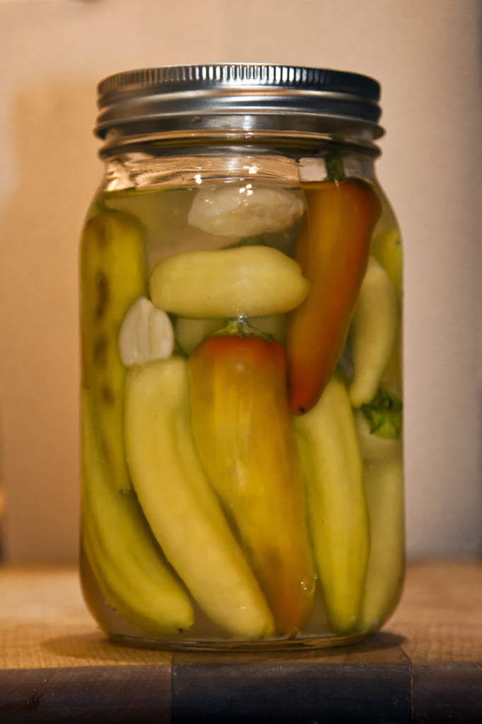brine pickled peppers