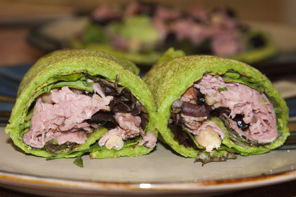 grain free spinach tortilla wrap