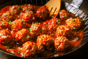 Spicy Sriracha Meatballs