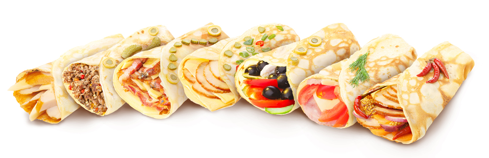 gluten-free, grain-free, crepe, variety of crepes