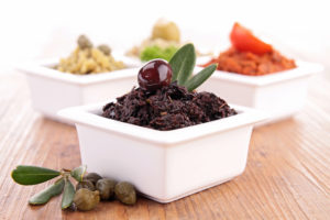 assortment of tapenade